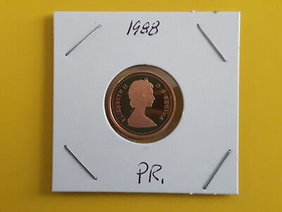 Canada 1988 Proof Gem UNC One Cent Penny!!