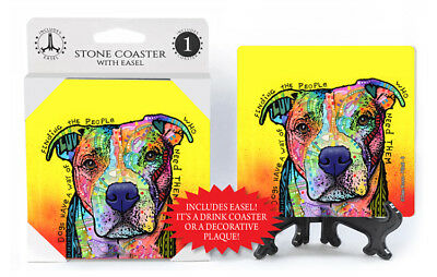 Pit Bull Dog's Have A Way Of Finding The People Dog Dean Russo Drink Coaster
