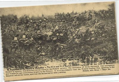 1 Postcard Waterloo Panorama Of The Battle Of From 1912 belmix663