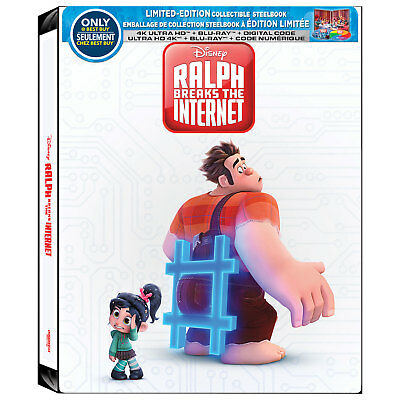 Ralph Breaks The Internet [SteelBook] [4K+Blu-ray+Digital] PRE-ORDER!!!