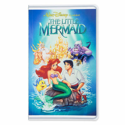 Disney Parks VHS Case The Little Mermaid Ariel Notebook Blank Diary Journal NEW