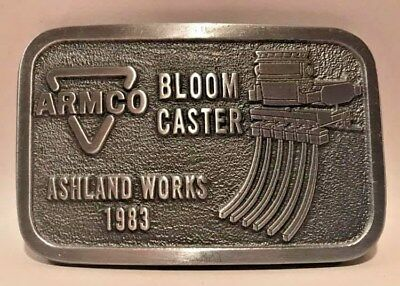 ARMCO Bloom Caster Belt Buckle Ashland Works 1983