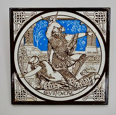 Idylls Of The King series - Minton .. Moyr Smith Tile .. Size 6x6 inches … condi