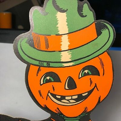 Vintage Halloween Anthropomorphic  Pumpkin Jack o Lantern JOL Decoration