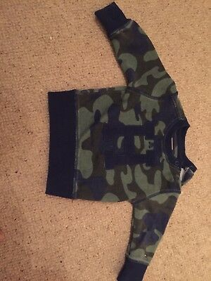 Tommy Hilfiger Baby Boys Camouflage Jumper Excellent Conditon Size 68 - 6 Months