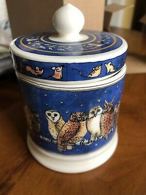 Emma Bridgewater Owls Small Lidded Candle Gift Boxed NEW And Boxed.