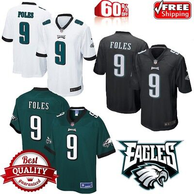 Men s New Nick Foles  9 Philadelphia Eagles Football Jersey stitched ALL  SIZE ca7a1bf20