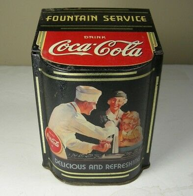 "Coca-Cola Fountain Service "" Delicious And Refreshing"" Tin"
