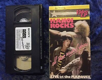 Hanoi Rocks All Those Wasted Years London 1983 Live Concert VHS 1984 80s Glam