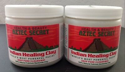 ORIGINAL Aztec Secret Healing Clay 1 lb Deep Pore Cleansing Facial Body 2pc set