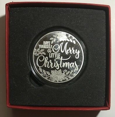 CHRISTMAS & MERRY BOX - 2018 CHRISTMAS 1 oz. - .999 FINE SILVER ROUND