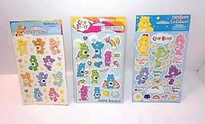 Care Bears Sticker Lot 3 Packs Incl 2009 Puffy 2004 2007 Stickers NEW UNOPENED