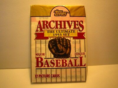 1991 Topps 1953 Archives baseball Wax Pack