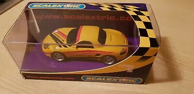 Scalextric C2479 Porsche Boxster Yellow 04 excellent car in box