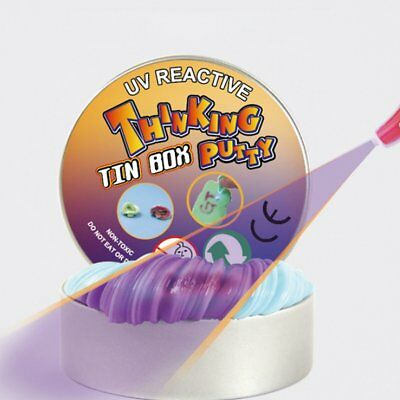 Novelty Discolor Plasticine Slime UV Light Silly Putty Clay Relieve Stress WQ