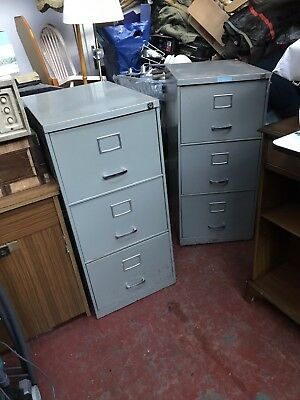 Three Drawer Filing Cabinet - No Key. - 2 Available