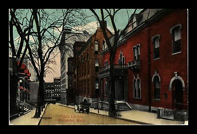 Dr Jim Stamps Us Public Library Worcester Massachusetts View Postcard