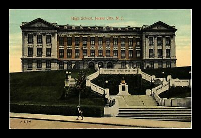 Dr Jim Stamps Us High School Jersey City New Jersey View Postcard