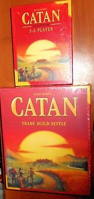 Settlers of Catan Board Game 5th Edition + 5-6 Player EXTENSION EXPANSION Pack
