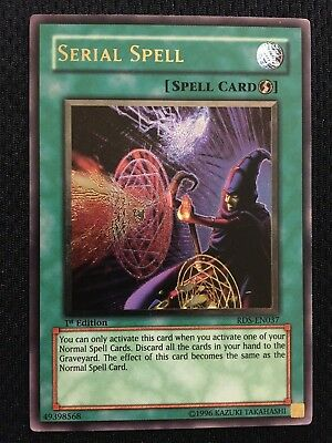 Yu-Gi-Oh TCG CCG SERIAL SPELL 1st Edition RDS-EN037 Ultimate NM/MNT Never Played
