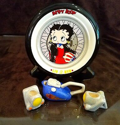 Betty Boop LIV 2 RYD Mini Tea Set by Vandor 2000 NEW