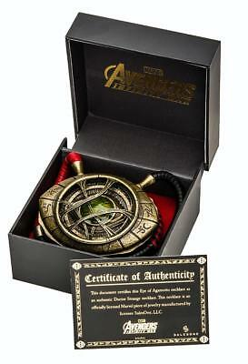 Avengers Infinity War Doctor Strange Scale Eye of Agamotto Prop Replica Necklace