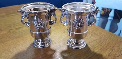 Paul's Antiques -a pair of vintage silver plated toothpick holders.very ornate.