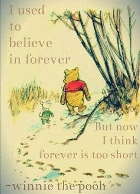 WINNIE THE POOH Inspirational Quote Unframed Print A4 Card Picture Poster Decor
