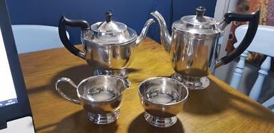 a vintage 5 piece silver plated tea set by viners of sheffield.very elegant.