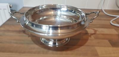 Paul's Antiques - antique silver plated soup dish by martin hall & co,sheffield.