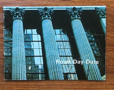 1970s Vintage Rolex Day Date Booklet 1803/8 1804/6