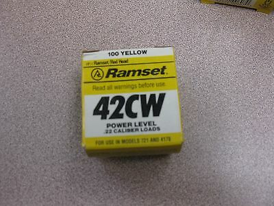 ITW Ramset 100pk #4RS27 Yellow Strip Fastener Load 00667 .27 Caliber