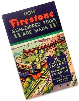 1933 HOW FIRESTONE TIRES ARE MADE souvenir book from Century of Progress Chicago