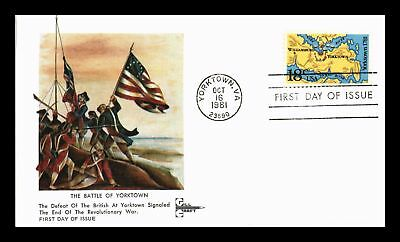 Dr Jim Stamps Us Battle Of Yorktown Gill Craft First Day Cover Virginia