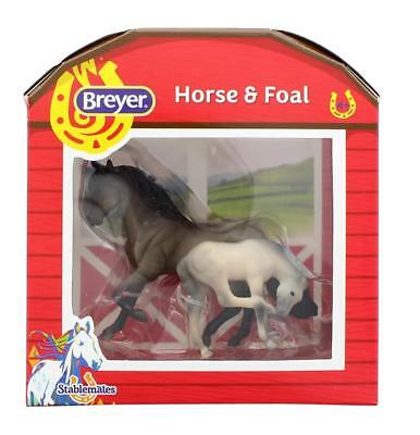 Breyer 1:32 Stablemates Model Horse: Grulla Mare & Foal