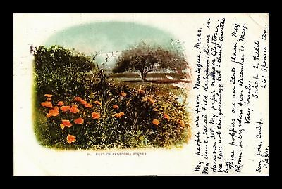 Dr Jim Stamps Us Field Of California Poppies Topical View Postcard