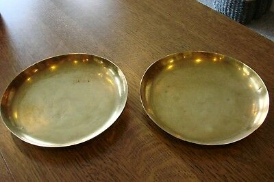 Antique Scale Pans Tray Scoop Vintage Scales Brass 8 Inch Diameter