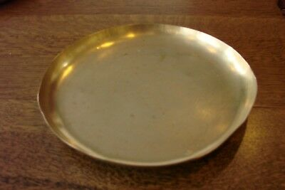 Antique Scale Pan Tray Scoop Vintage Scales Brass 8 3/4 Inch Diameter