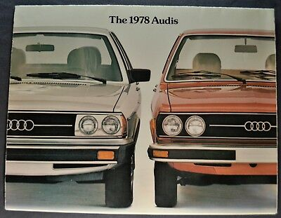 1978 Audi Sales Brochure Folder 5000 Fox Excellent Original 78