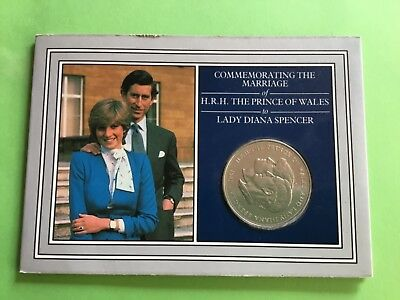 Commemorative The Marriage Of Prince Charles & Lady Diana Coin