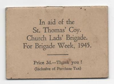 Diary 1946 Produced In Aid of the St.Thomas' Coy Church Lads Brigade Week 1945