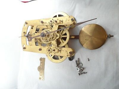 Seth Thomas 86T 30 Day Clock Movement with Back Plate support