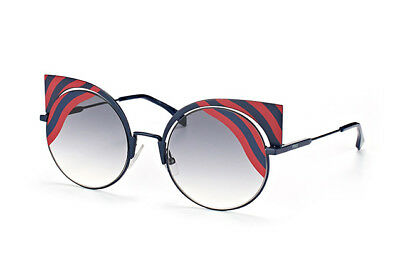63f75029bdd3 600  New + Case FENDI Blue   Red Round Cat Eye Sunglasses FF0215 Kendall  Jenner