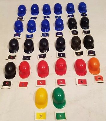 26 Vintage 1970s VENDING MACHINE LAICH MINI Baseball Helmets WITH STICKERS