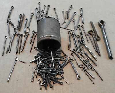 Vintage Steel Cotter Pins With Container, No. 5 Assortment, Various Sizes