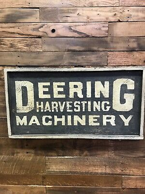 Deering, Harvesting, Machinery, Vintage, Farming, Agriculture, Collectable, Sign