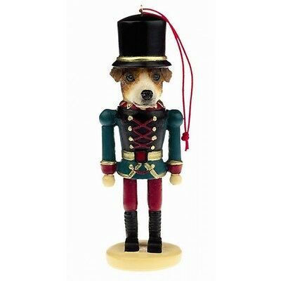 Jack Russell Terrier Dog Toy Soldier Nutcracker Christmas Ornament