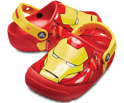 2fb5e2dbe Crocs Marvel Ironman Kids Toddler Light Up Sandal Clogs Shoes Size 9 NEW