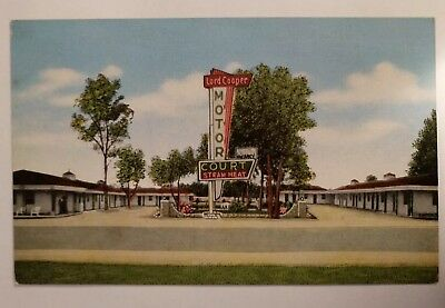 The Lord Cooper Motor Court Motel Mount Pleasant South Carolina Linen Postcard