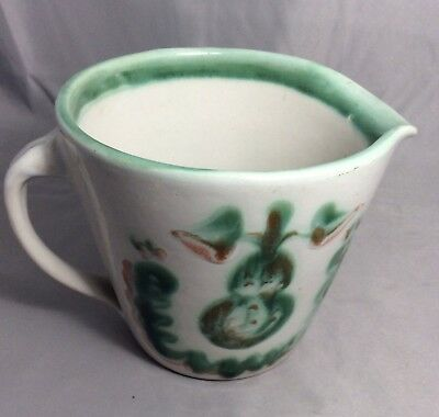 M.A. Hadley Pear Pottery Measuring Cup, Signed